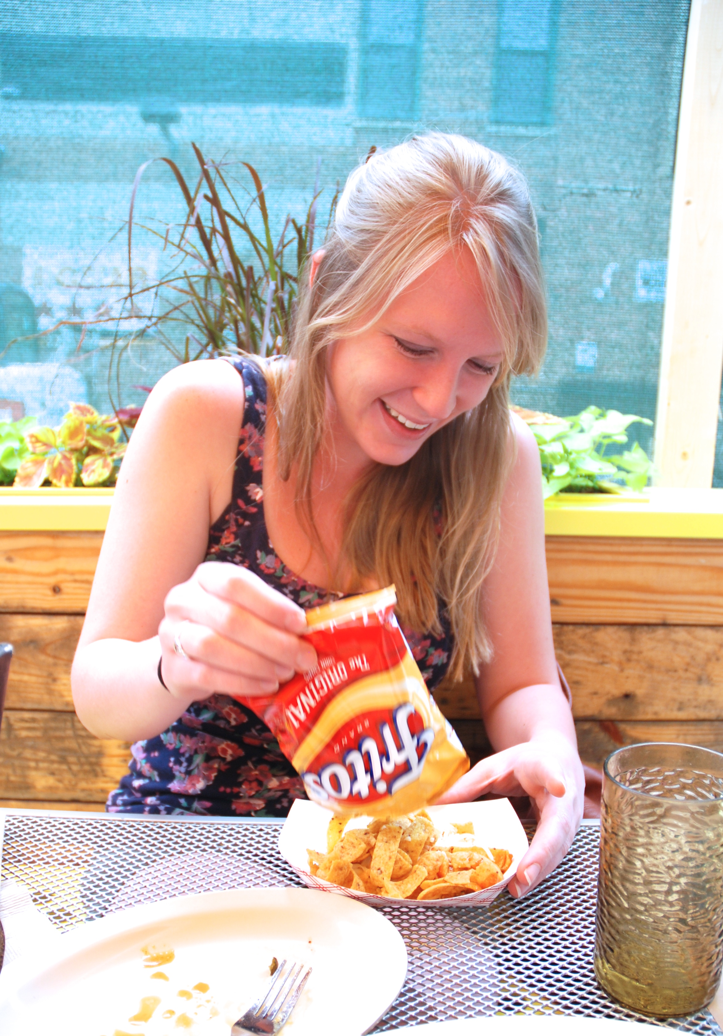 The Walking Taco - served in a Frito bag, staying true to its traditional convenience!