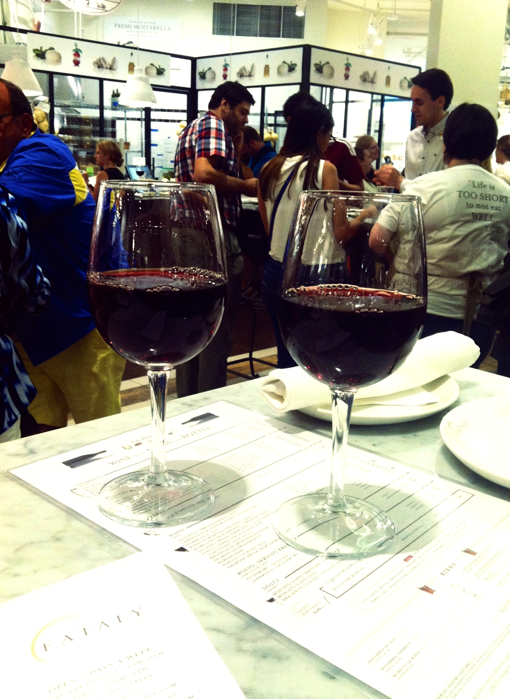 two eataly glasses