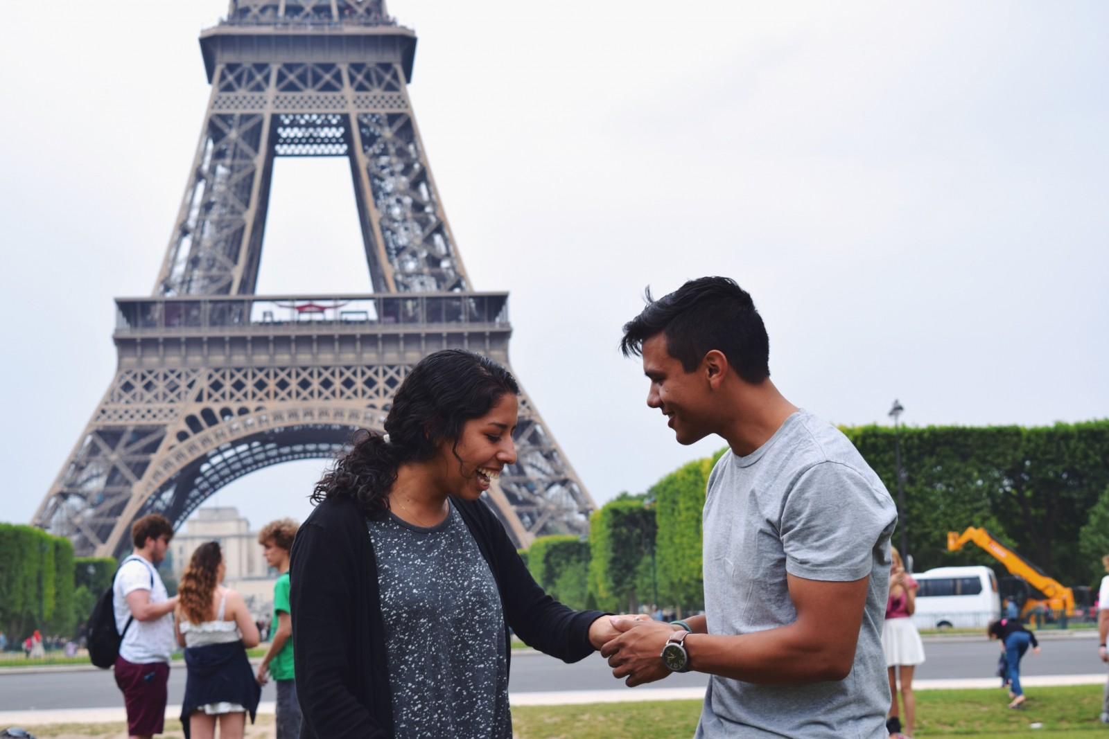 Engaged in the City of Love