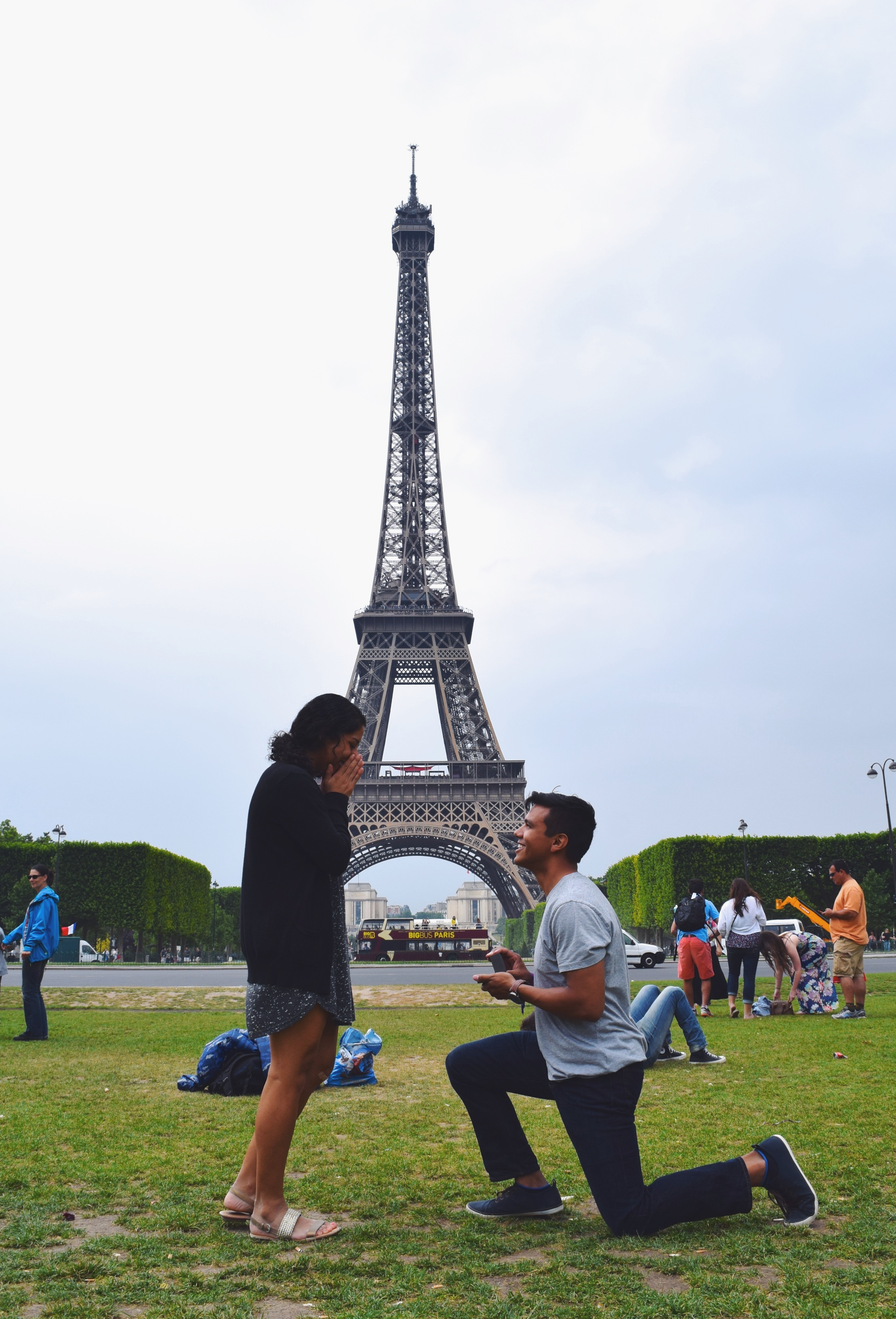 engaged in paris