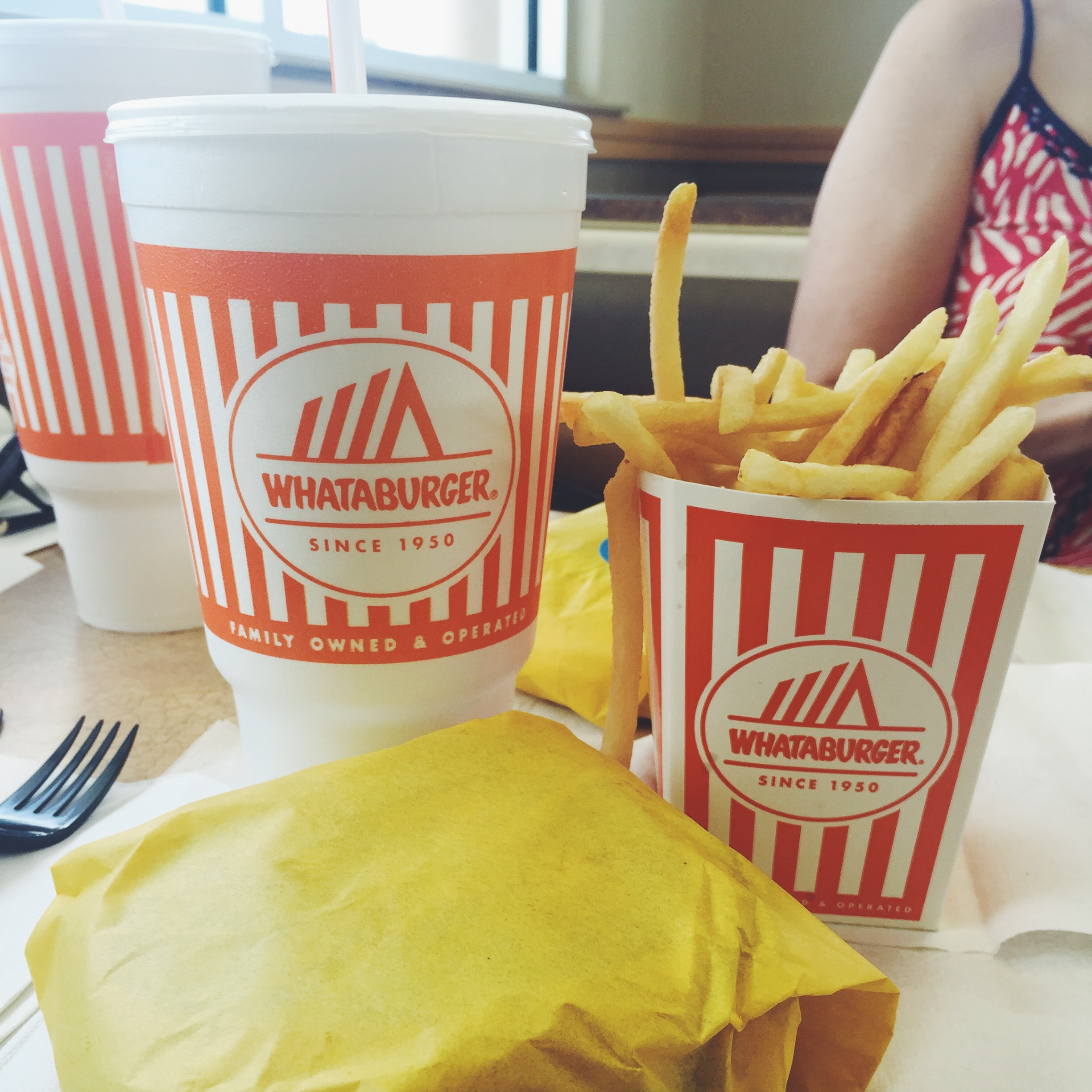 The last {Whataburger} supper. It was actually lunch, but it's fine.