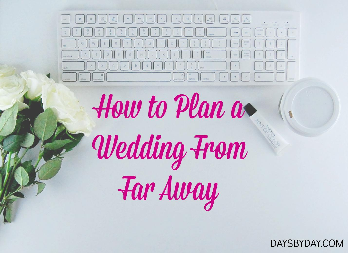 plan a wedding
