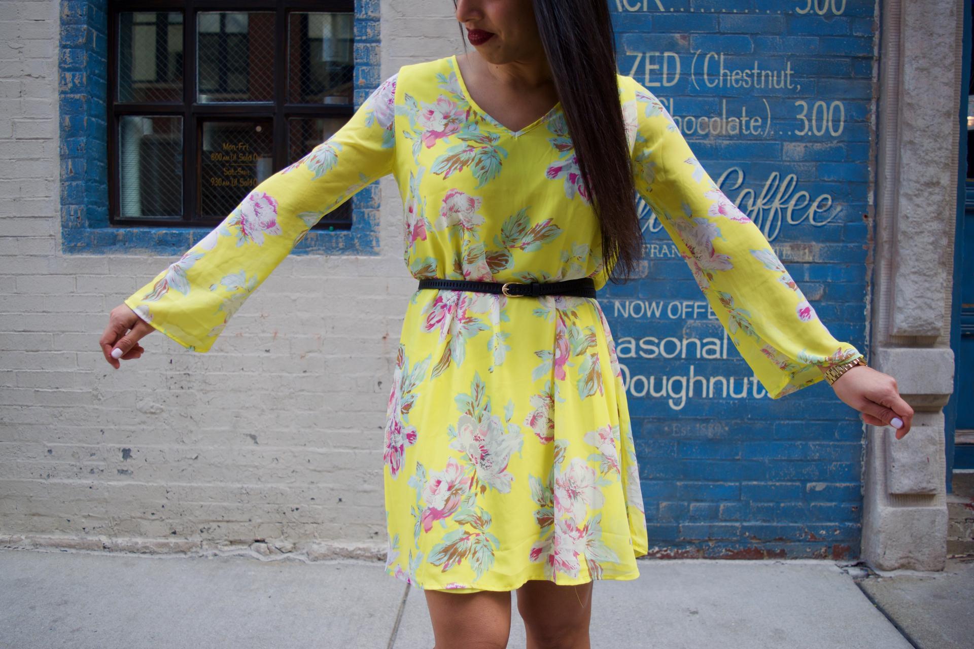 bright spring dress