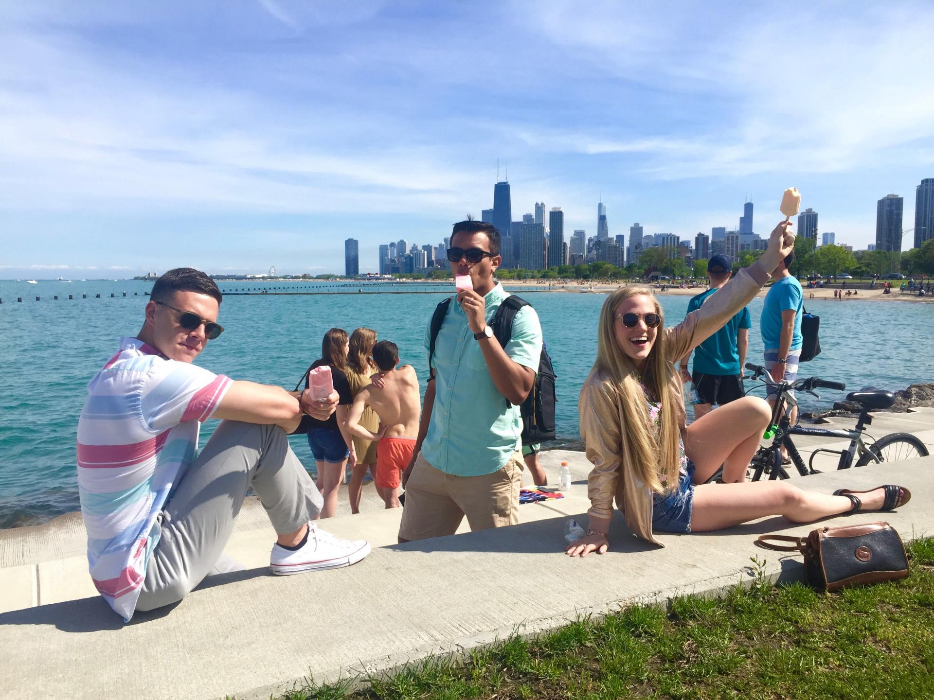 summertime in Chicago