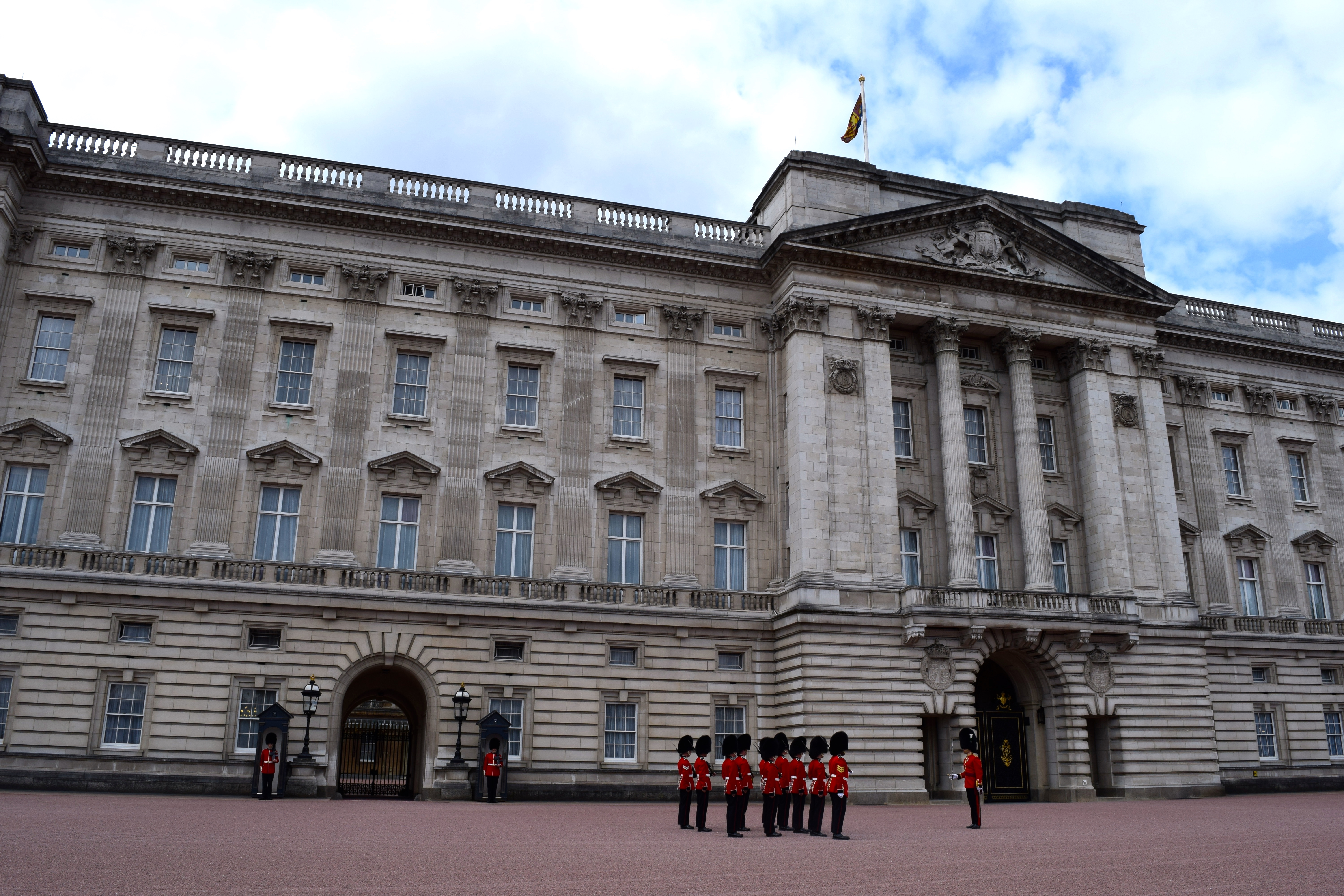 Changing of the Guards at Buckingham Palace - London, England.