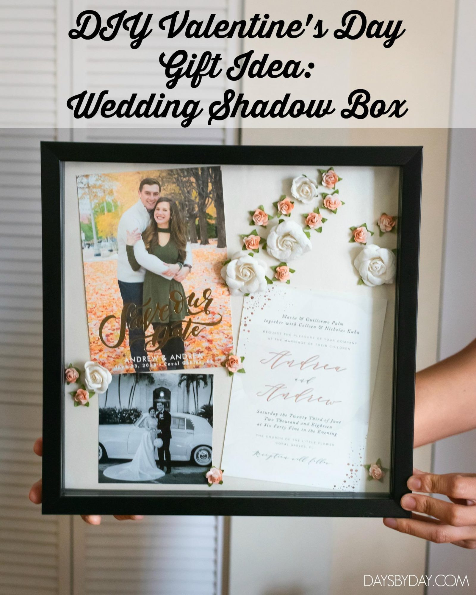 DIY Valentine's Day Gift Idea: Wedding Shadow Box